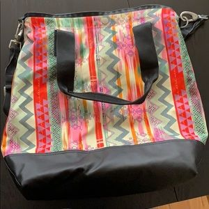 The North Face tribal print bag.